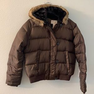 Ralph Lauren Brown Down Filled Puffer Coat Large